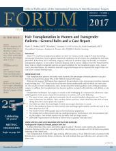 International Society of Hair Restoration Surgery: 27 (6)